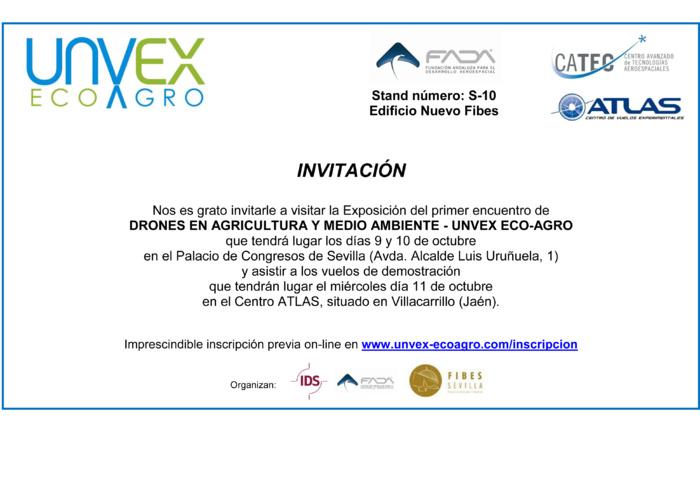 INVITACIÓN UNVEX ECO-AGRO - 9-11 DE OCTUBRE 2017