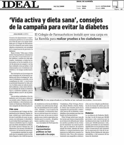 Euromedia diseña la campaña para el Día Mundial de la Diabetes del Consejo Andaluz de Colegios Oficiales de Farmacéuticos