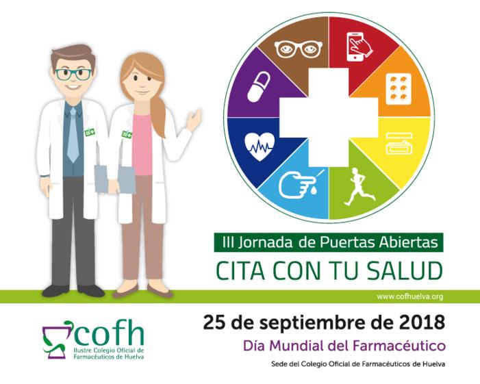 El Colegio de Farmacéuticos de Huelva celebrará el próximo martes, día 25 de septiembre, una jornada de puertas abiertas y un circuito saludable en su sede
