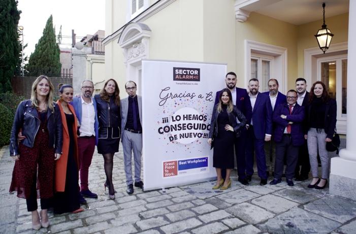 SECTOR ALARM REVALIDA SU RECONOCIMIENTO COMO UNA DE LAS 50 MEJORES EMPRESAS PARA TRABAJAR EN ESPAÑA