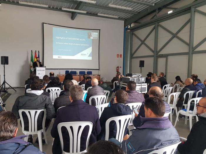 NOTA DE PRENSA: Las últimas tecnologías relacionadas con la integración de drones en el espacio aéreo se presentan en el Centro de Vuelos Experimentales ATLAS