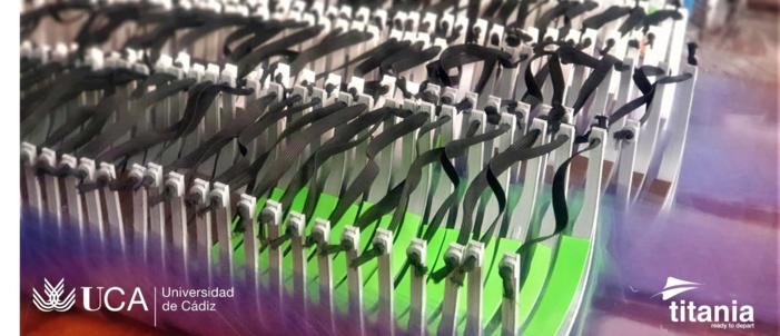FOTONOTICIA: Titania colabora con la UCA en la fabricación y montaje de pantallas protectoras, de las que ya se han entregado más de un millar