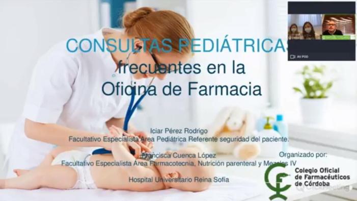 Los farmacéuticos cordobeses mejoran su consejo sanitario en pediatría de la mano de una de las mayores apuestas por la formación online del Colegio de Córdoba