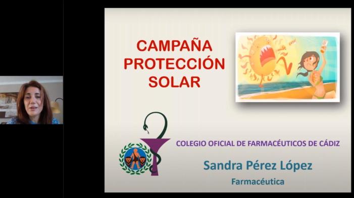 El Colegio de Farmacéuticos de Cádiz ofrece de forma online consejos a escolares de Jerez de la Frontera para una correcta protección solar