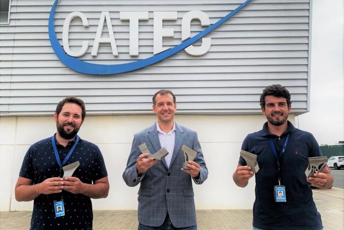 NOTA DE PRENSA: Piezas diseñadas y fabricadas por CATEC en impresión 3D viajarán al espacio en el satélite EUELSAT QUANTUM de Airbus, preparado ya para su lanzamiento