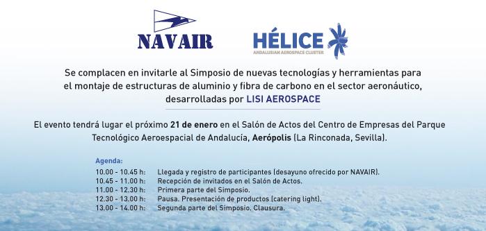 Invitación Simposio NAVAIR Nuevas Tecnologías para el Montaje de Estructuras en el Sector Aeronáutico