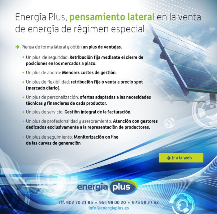 Energía Plus, pensamiento lateral en la venta de energía de régimen especial