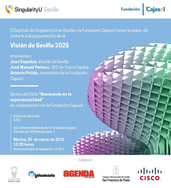 Invitación a la Presentación de la Visión de Sevilla 2025