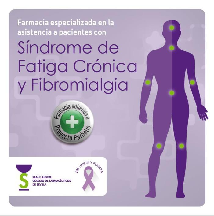 Las farmacias sevillanas especializadas en la asistencia a personas con fibromialgia y síndrome de fatiga crónica estrenan distintivo