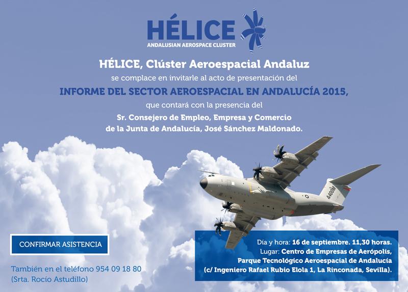 Presentación del informe del sector aeroespacial en Andalucía 2015