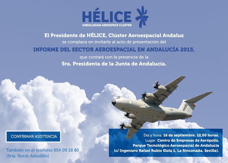 La Presidenta de la Junta de Andalucía confirma su asistencia al acto de presentación del informe del sector aeroespacial 2015. Cambio de horario