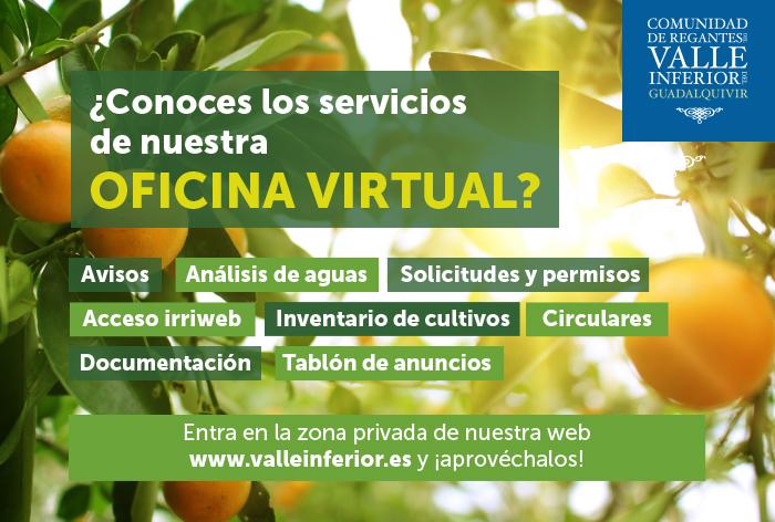 CRR Valle Inferior del Guadalquivir - ¿Aún no conoces los servicios de nuestra oficina virtual?