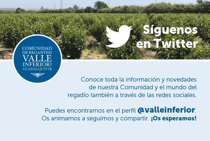 CRR Valle Inferior del Guadalquivir - ¡Síguenos en Twitter!