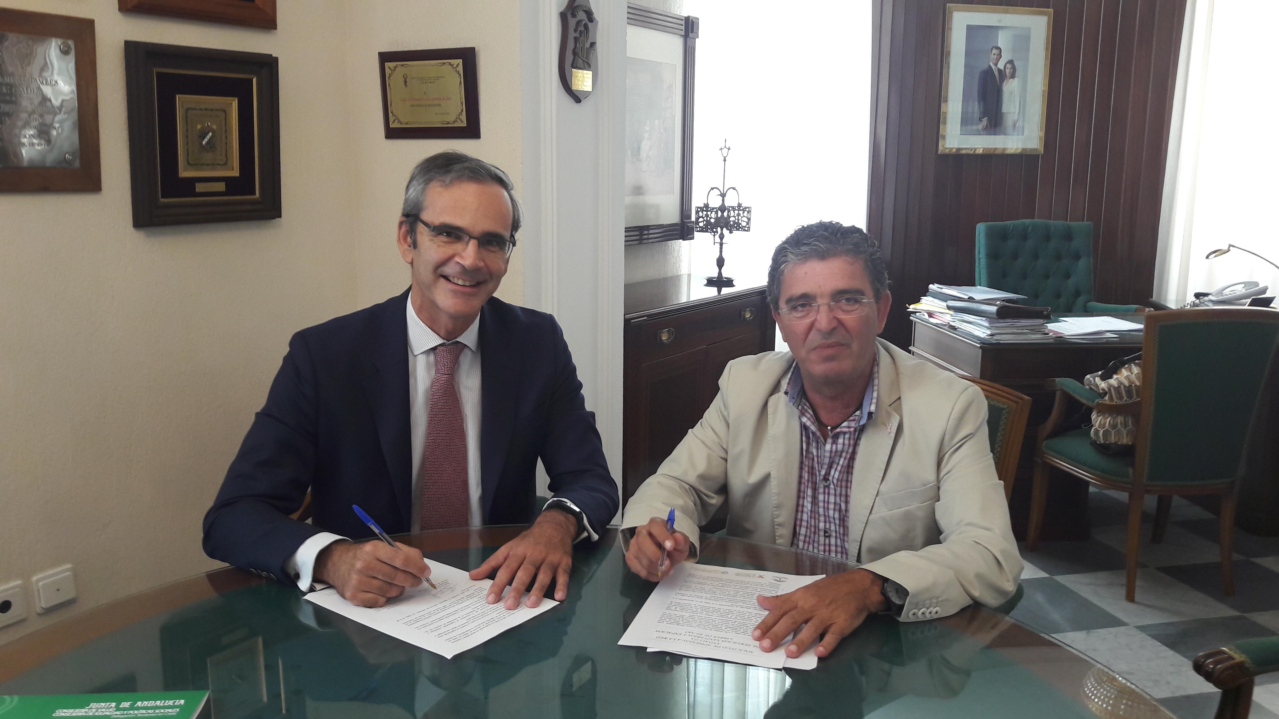 El Colegio de Farmacéuticos de Cádiz firma con la Delegación Territorial de Salud su adhesión a la Red Andaluza de Servicios Sanitarios y Espacios Libres de Humo