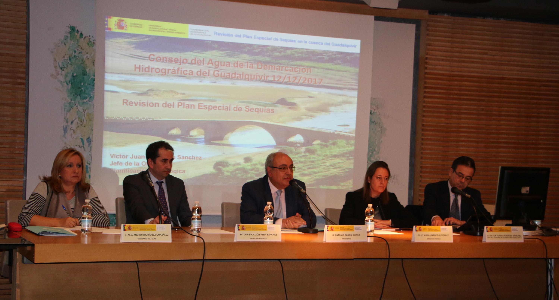 NOTA DE PRENSA: La CHG presenta ante el Consejo del Agua de la demarcación el nuevo Plan Especial de Sequía de la cuenca
