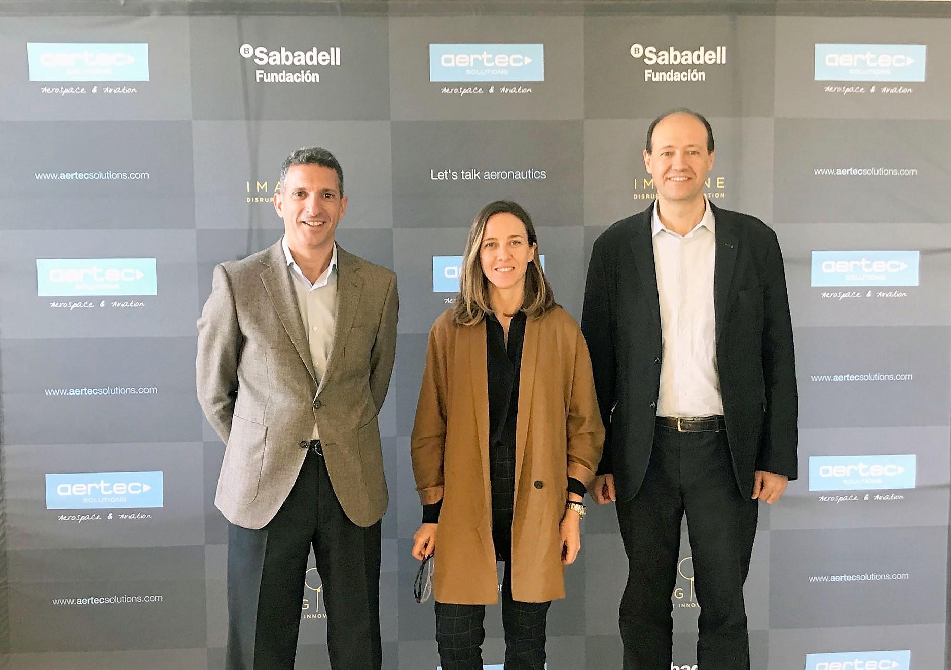"""El programa AERTEC Solutions Challenge se sube al tren de """"Imagine Express"""" con la Fundación Banco Sabadell, un programa de innovación disruptiva que busca nuevas ideas de negocio"""