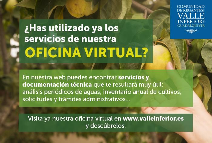 CRR Valle Inferior del Guadalquivir - ¿Has utilizado ya los servicios de nuestra Oficina Virtual?