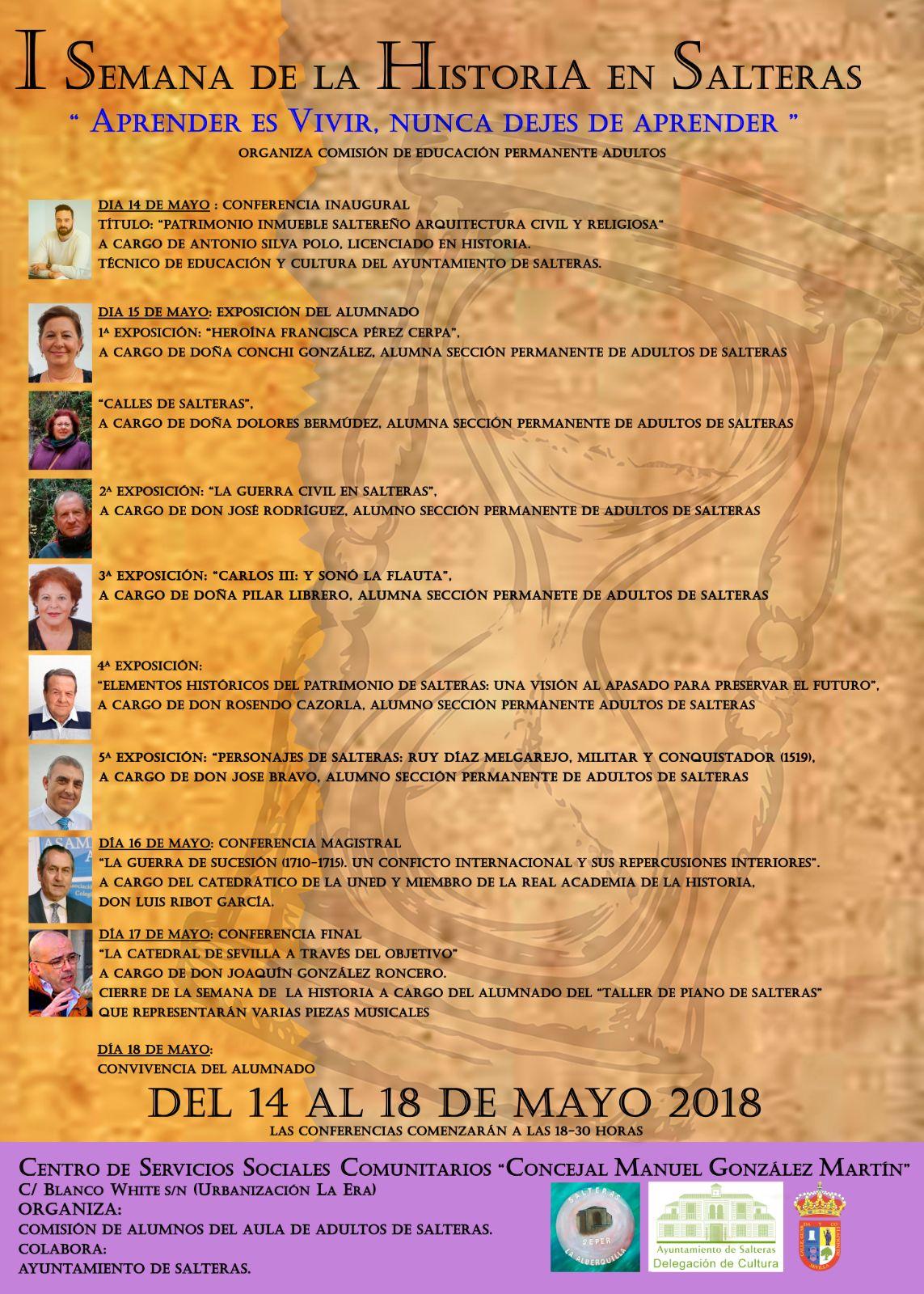 """LA REAL ACADEMIA DE LA HISTORIA COLABORA EN LA """"SEMANA DE LA HISTORIA"""" DE SALTERAS, DEL 14 AL 18 DE MAYO"""