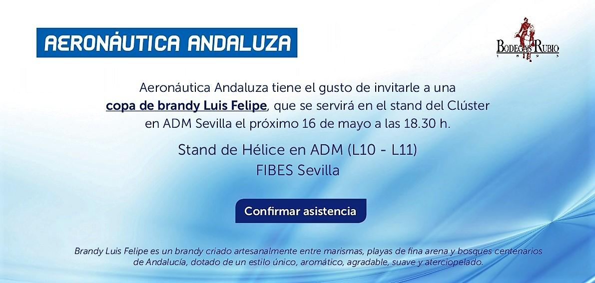 Copa de brandy Luis Felipe ofrecida por Aeronáutica Andaluza en ADM 2018