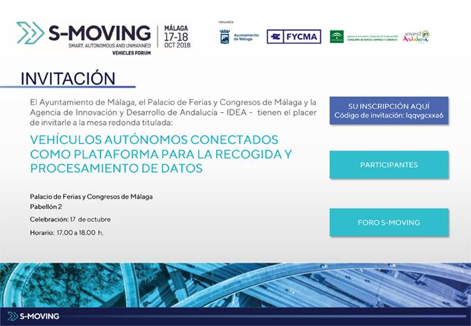 Invitación Mesa redonda en S-MOVING – 17 octubre, Málaga