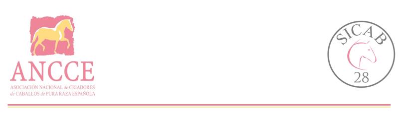 Convocatoria. SICAB 2018: ACTO OFICIAL DE PRESENTACIÓN DE LA 28ª EDICIÓN DEL SALÓN INTERNACIONAL DEL CABALLO