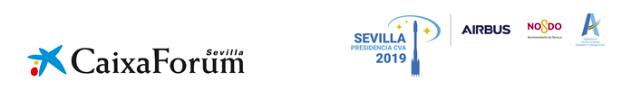 """CAIXAFORUM RETRANSMITE EL LANZAMIENTO DEL ARIANE 5 DENOMINADO """"SEVILLA"""" CON MOTIVO DE LA PRESIDENCIA DE LA CAPITAL ANDALUZA EN LA COMUNIDAD DE CIUDADES ARIANE DURANTE 2019"""