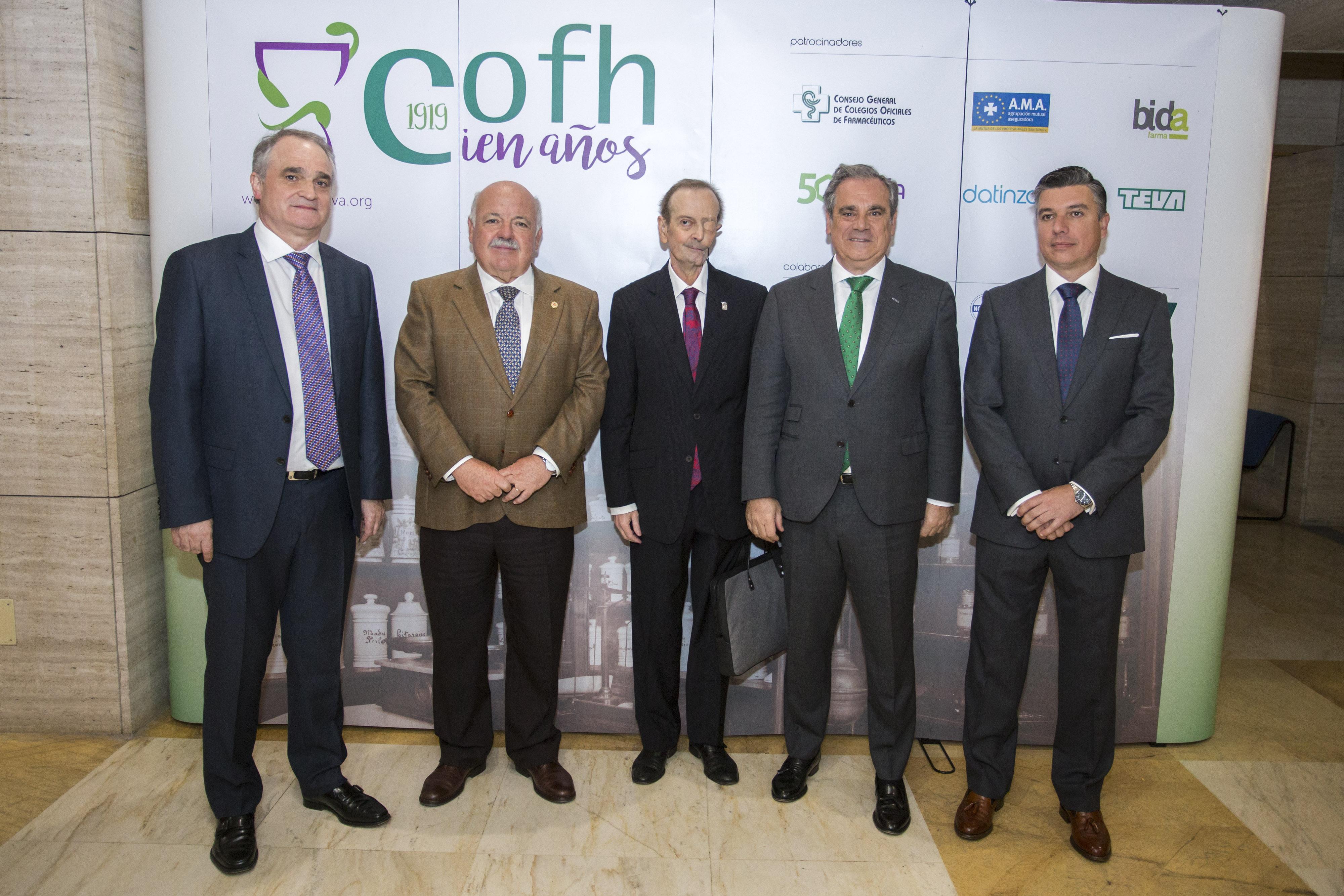 El Colegio de Farmacéuticos de Huelva inicia la celebración de su centenario poniendo en valor su compromiso con la salud de la sociedad onubense