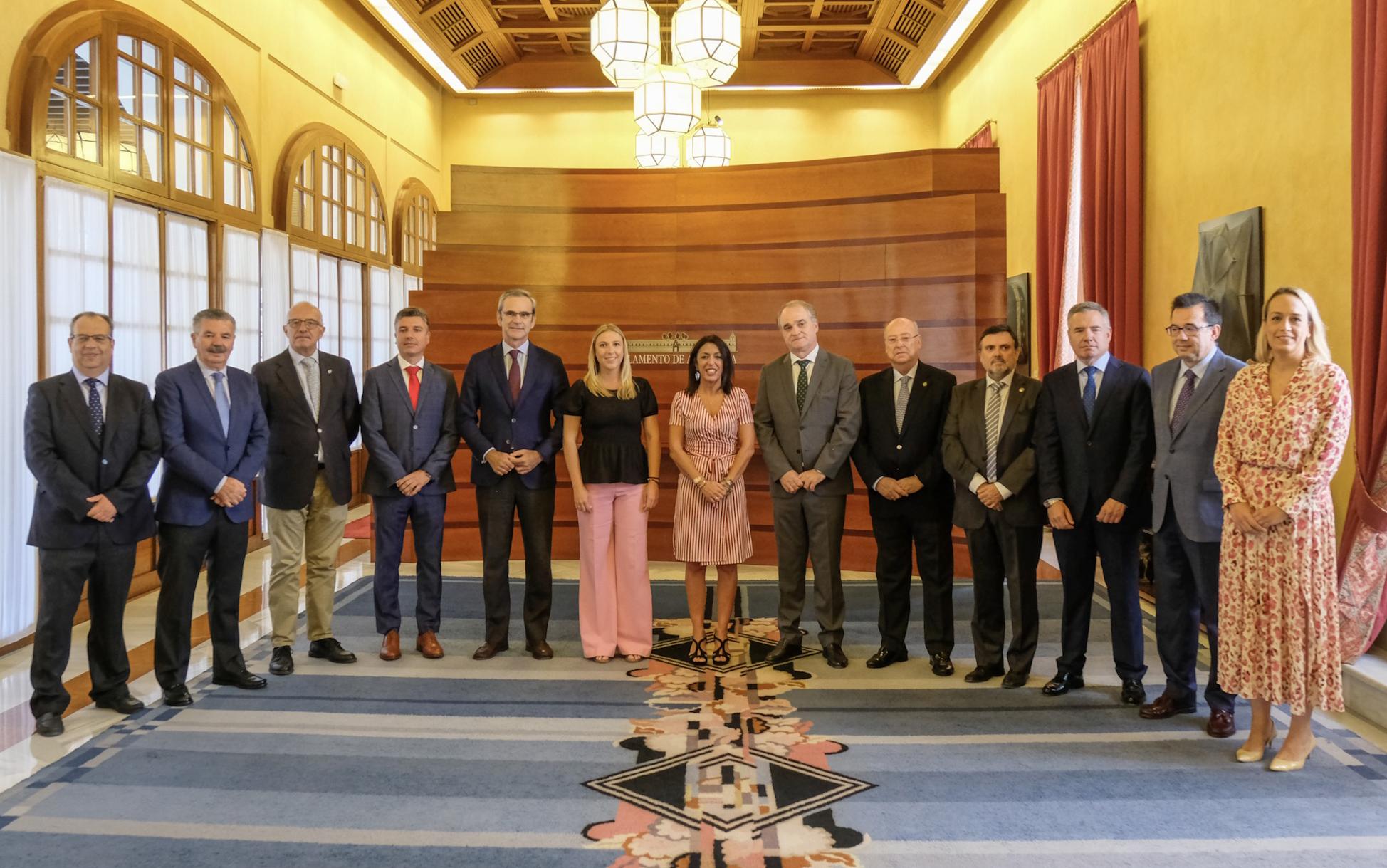 Los farmacéuticos andaluces presentan en el Parlamento de Andalucía todo su potencial sanitario al servicio del sistema de salud