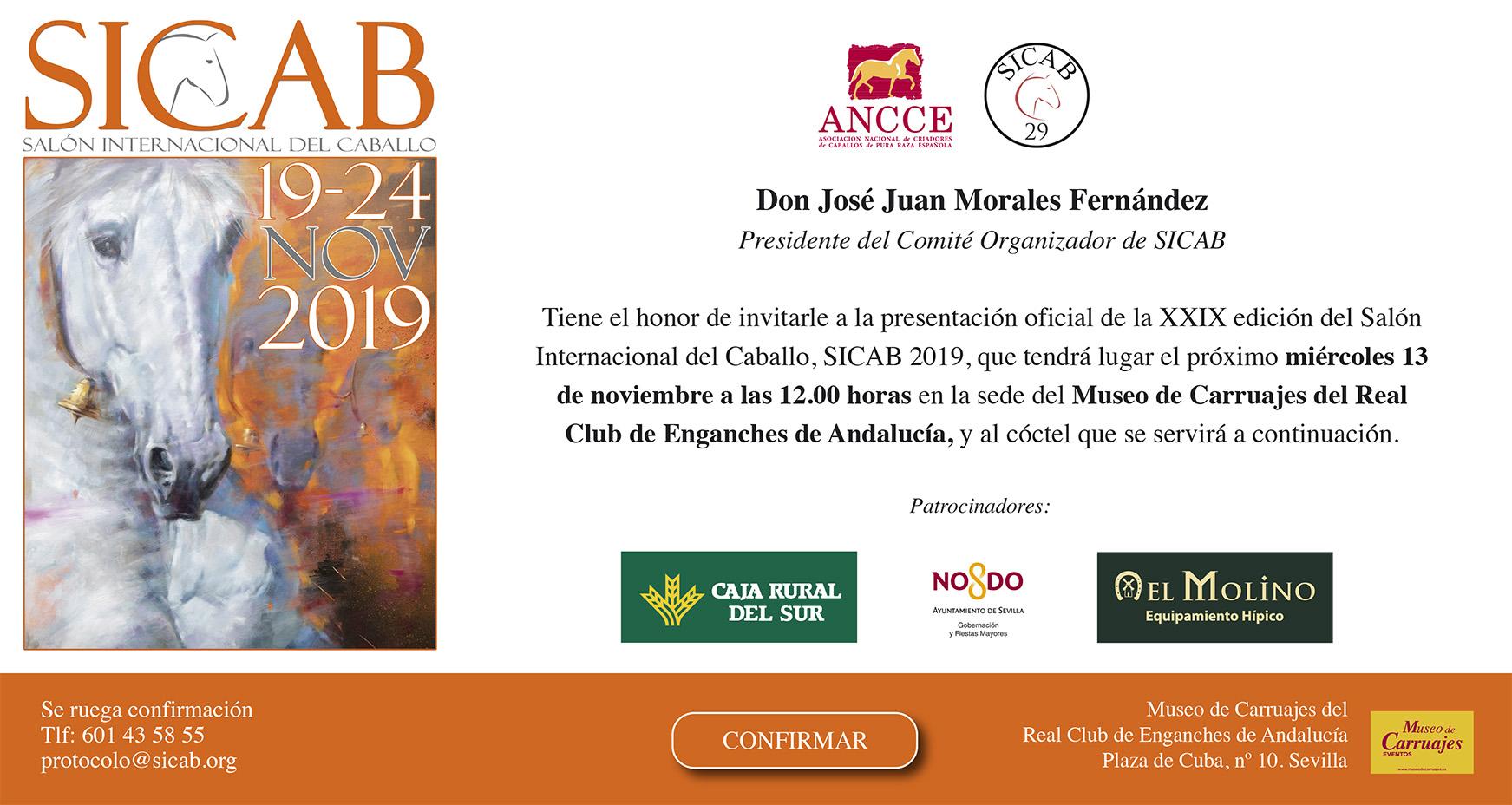 SICAB 2019. Invitación a la Presentación de la 29 Edición de Sicab