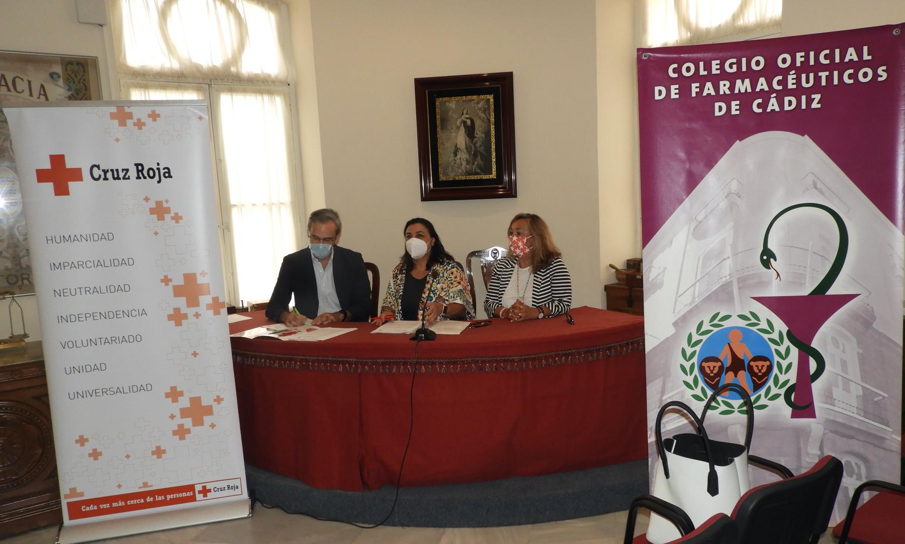 Cruz Roja Española y el Colegio de Farmacéuticos de Cádiz estrechan sus lazos de colaboración para mejorar su labor de promoción de la salud entre la población