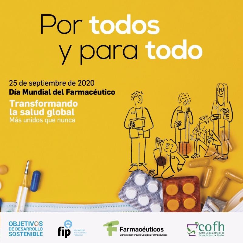 """Los farmacéuticos onubenses destacan el papel que realizan desde distintos ámbitos, """"por todos y para todo"""", en beneficio de la salud de la población"""