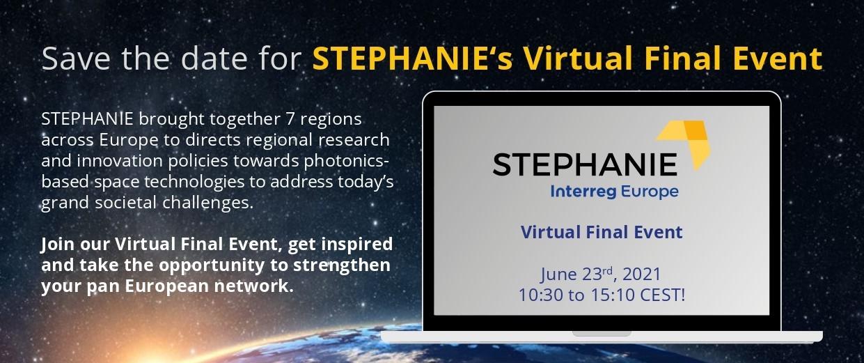 Invitación evento final del proyecto STEPHANIE, 23 de junio