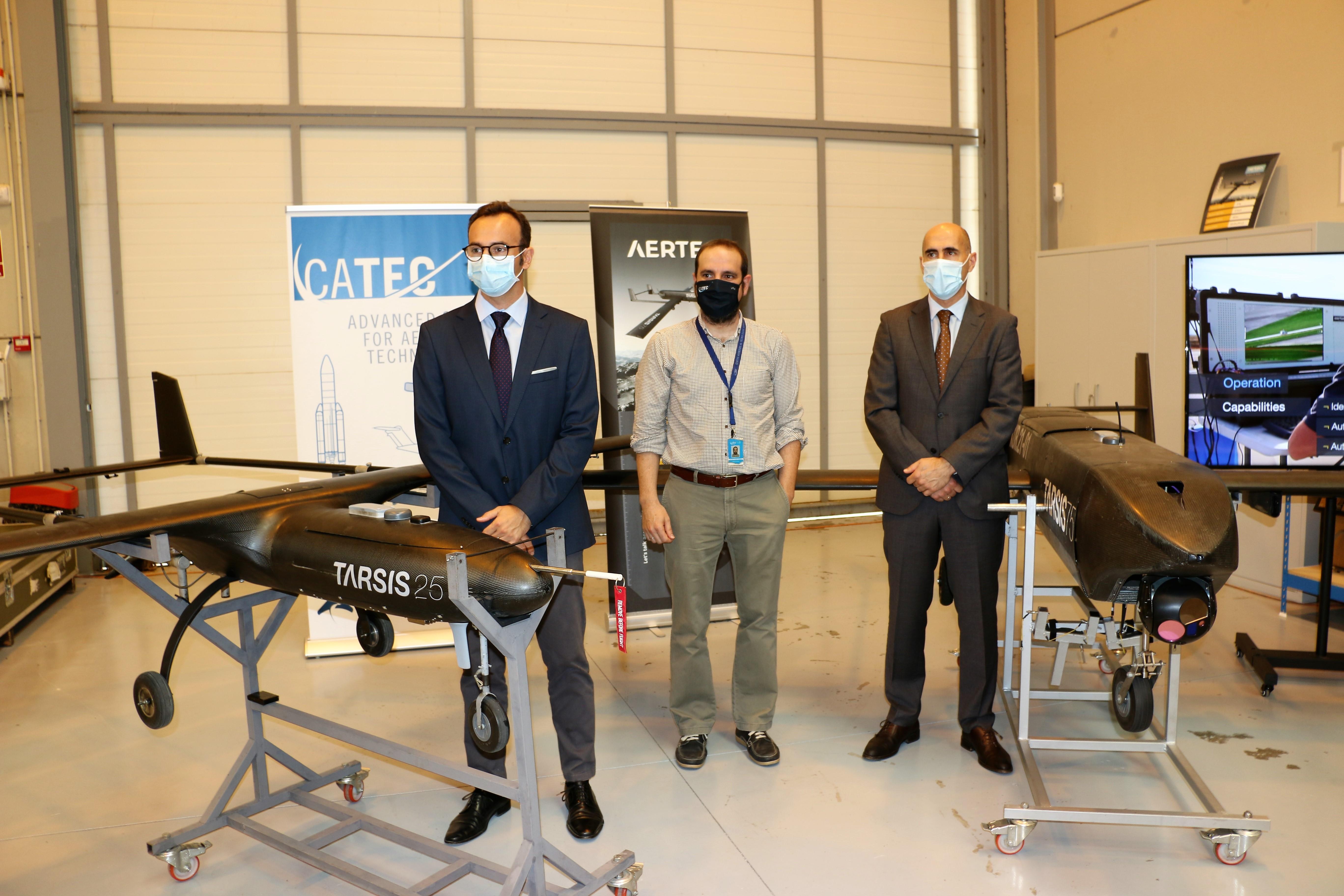 NOTA DE PRENSA: AERTEC y el CATEC se alían para el impulso tecnológico del sector de los UAS en Andalucía