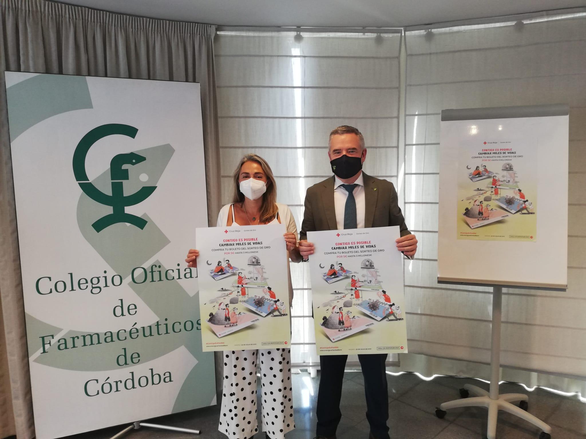 Los farmacéuticos cordobeses animan a colaborar con las iniciativas sociales de Cruz Roja adquiriendo en las farmacias los boletos para su Sorteo de Oro, que tendrá lugar el próximo 22 de julio