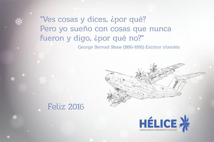 El equipo de HÉLICE os desea una Feliz Navidad y Feliz 2016!