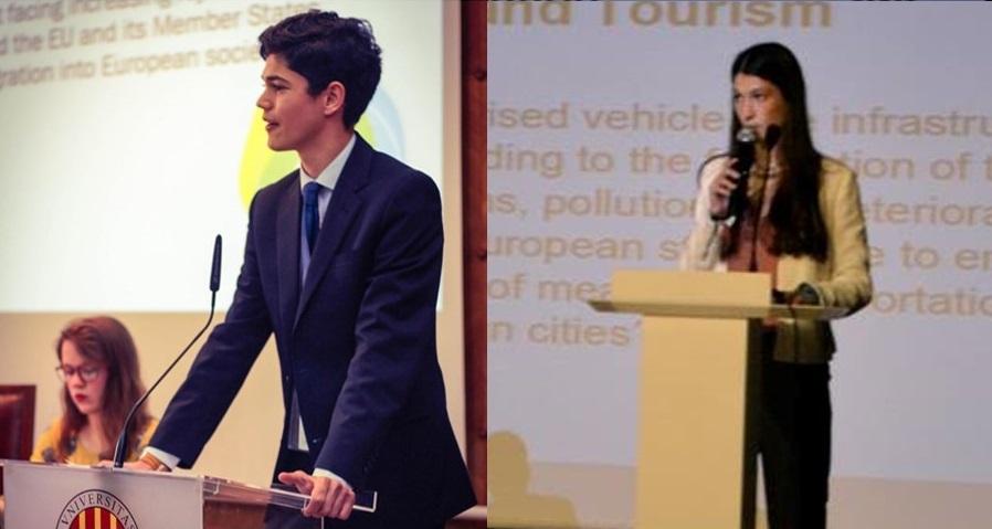 NOTA DE PRENSA: DOS ALUMNOS DEL COLEGIO REPRESENTARÁN A ESPAÑA EN LAS SESIONES INTERNACIONALES DEL JOVEN PARLAMENTO EUROPEO