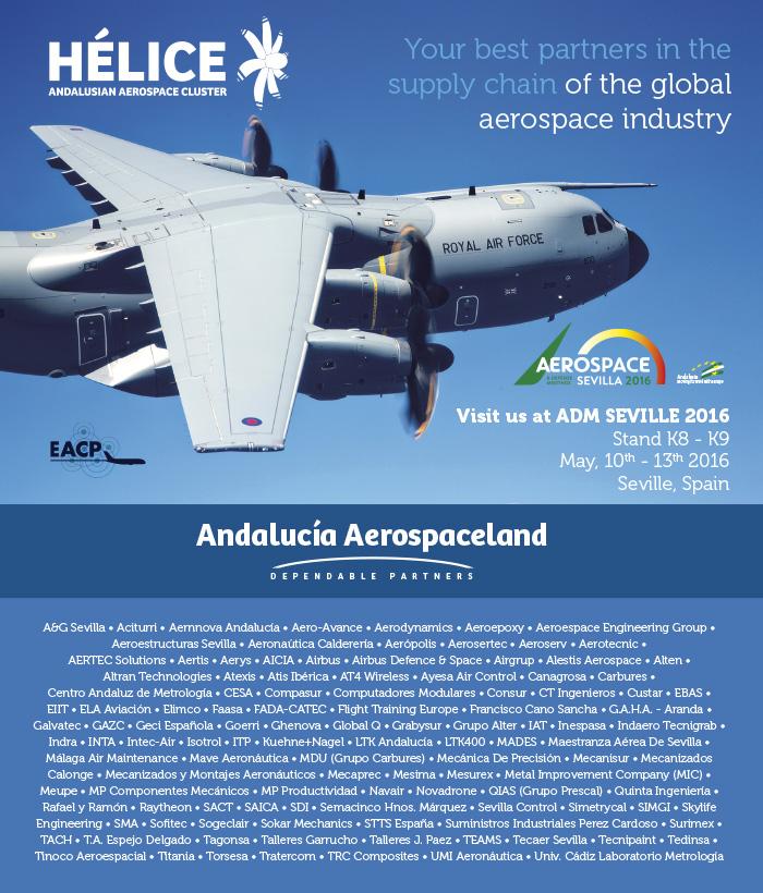 Cluster HÉLICE at ADM Seville 2016- VISIT US! (Stand K8-K9)