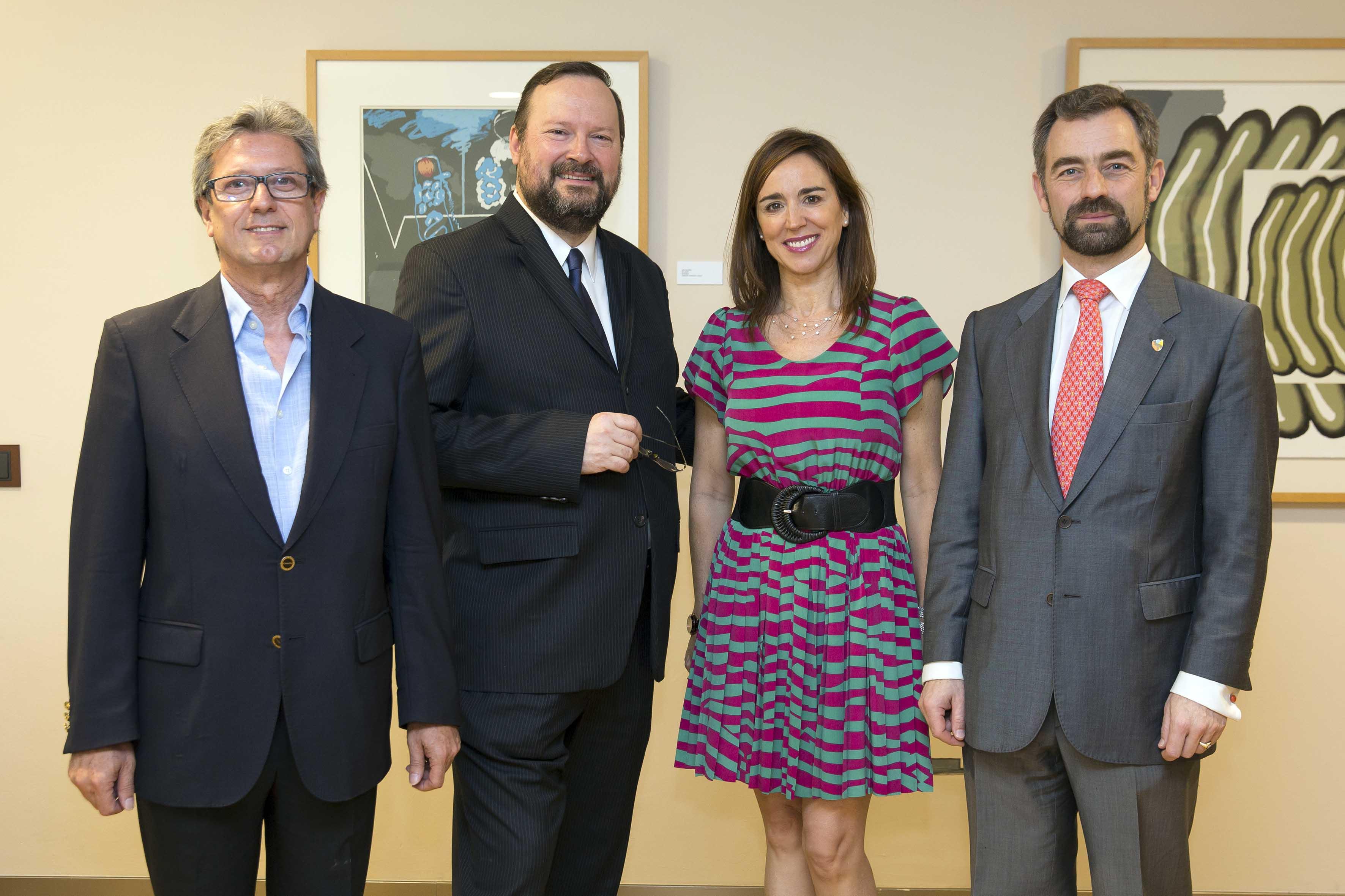 De izquierda a derecha, Manuel Bellido, David Orban, Rosa Santos y Luis Rey.